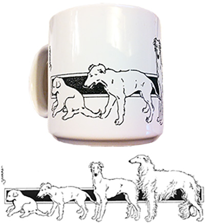 Growing Borzoi Mug photo