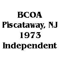 1973 BCOA 1st independent specialty logo