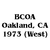 1973 BCOA national west logo
