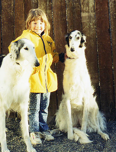 Borzoi and Child